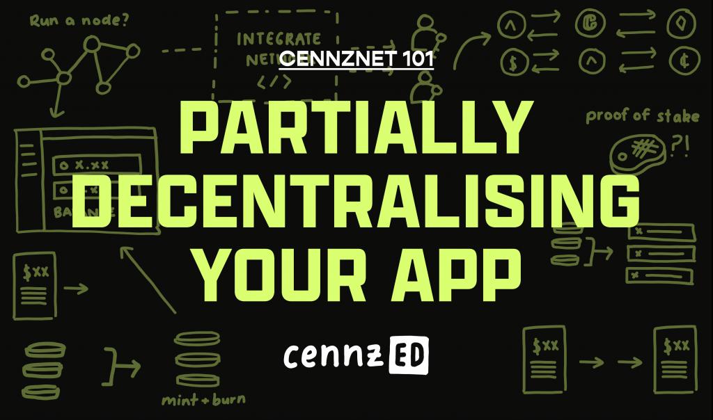 Partially decentralising you App