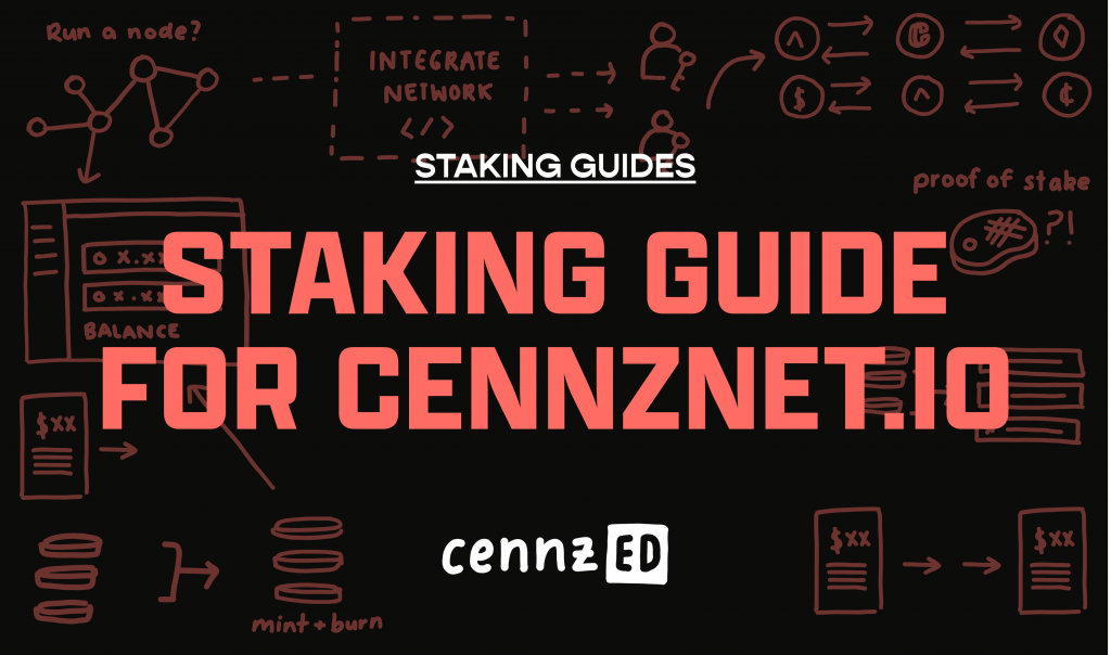Staking guide for CENNZnet.io